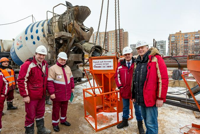 Первый куб бетона: началось строительство станции «Лианозово»
