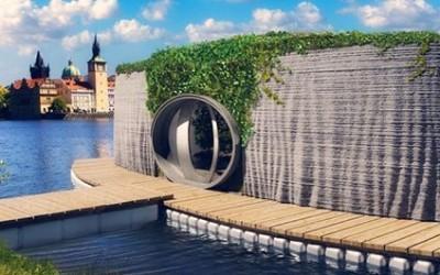 Плавучий дом из 3D-принтера (видео)