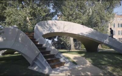 В Швейцарии безарматурный бетонный мост распечатали на 3D-принтере