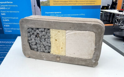 Дышащий бетон продемонстрировали на фестивале «Техносреда 2021»